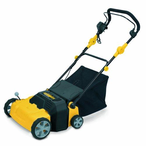 Powerplus 1800 Watt 2 in 1 Garden Electric Lawn Scarifier / Aerator with 4 Working Depths POWXG7515 – 3 Year Home User Warranty