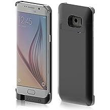 Vanda® Funda con batería para Samsung Galaxy S6 edge plus SM-G928 con POWER Pack batería recargable 4800mAh Paquete De Baterías Externas.negro