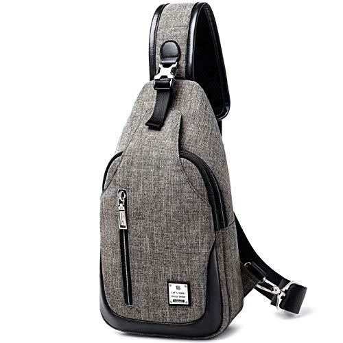 HASAGEI Brusttasche Sling Bag Schultertasche für Damen und Herren Crossbody Bag Umhängetasche Rucksack (Grau, S) (Umhängetasche Crossbody)