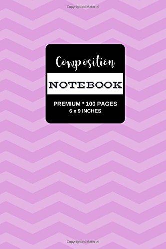 Composition Notebook: Premium Writing Notebook Journal, Plum Chevron Stripes, 100 Pages (Medium, 6 x
