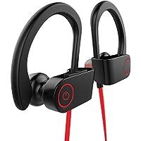 Auriculares Manos Libres Bluetooth Fitness, 110 mAh Batería de 8 Hrs Sweatproof Cascos Inalámbricos -
