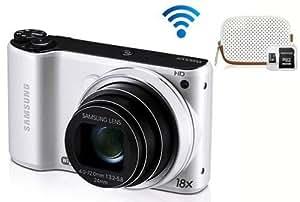 Pack : Samsung WB202F Blanc + Etui + Micro SDHC 4 Go & Adaptateur SD