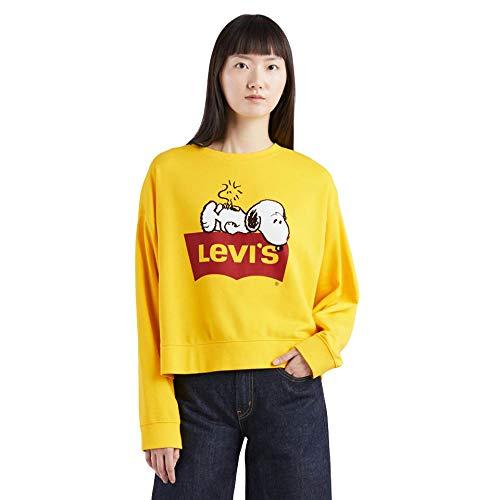 Levi´s ® Damen Pullover Sweatshirt Graphic Crew Peanuts Yellow L -
