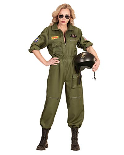 Horror-Shop Luftwaffen Kampfjet Pilotin Frauenkostüm für Fasching & Motto Party S (Top-gun-kostüm Tom Cruise)