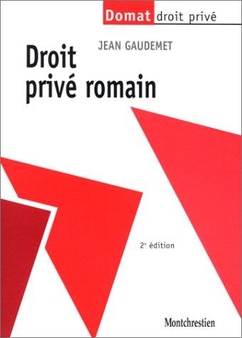 Le Droit privé romain