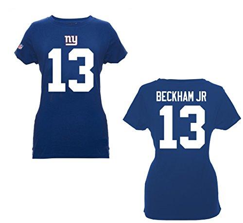 NFL Football T-Shirt Trikot Damen Women NEW YORK NY GIANTS Odell Beckham Jr. #13 blau in S (SMALL)