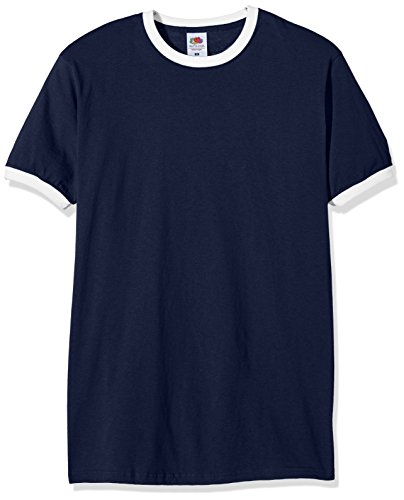 fruit-of-the-loom-ss040m-t-shirt-homme-bleu-bleu-marine-blanc-m