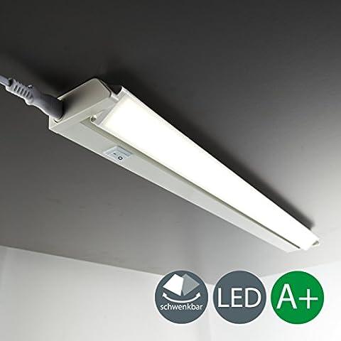 LED Unterbauleuchte Schwenkbar Lichtleiste Küchenleiste LED Küchenleuchte Küchenlampe Schrankleuchte Schranklampe Titan Ein/Ausschalter 56 x 6,1 x 3 cm 8,5 Watt 840 (Küche Indirekte Beleuchtung)
