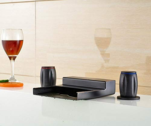 Rubinetti per lavelli da cucina Rubinetti per vasca Rubinetto miscelatore con doppio comando a LED con cambio bronzo lucidato a olio