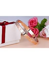 Funda inspirado alta calidad pulsera de acero inoxidable para hombres y mujeres amantes de la O Sweethearts alta calidad oro rosa