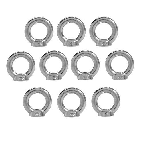 10 Stück Ringmuttern Edelstahl A4 M8 ähnlich DIN 582 Zurroese Bügelmutter gegossene Form Ringschraube