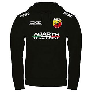 Sweatshirt Abarth Kapuzenpullover personalisierte handgefertigt (l, Schwarz)