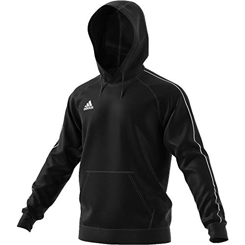 adidas Football App Generic, Hooded Sweat Uomo, Black/White, L