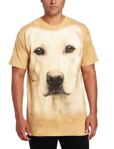 Mountain Unisex Erwachsen Yellow Lab Portrait Hund T Shirt Beige