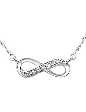 Laimons Damen-Halskette Damenschmuck Unendlichkeit Symbol glanz 45cm Zirkonia Sterling Silber 925
