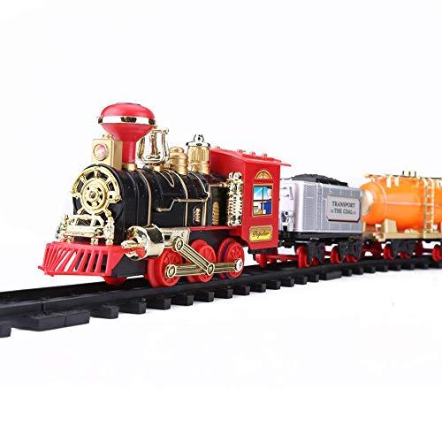 Dilwe Treno di Controllo Temoto Elettrico, Modello di Treno a Vapore Giocattolo Ricaricabile Regalo di Natale per Bambini