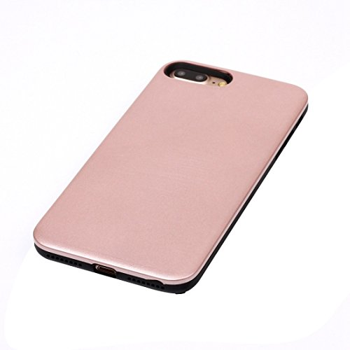 Für iPhone 7 Plus TPU + PU-kombinierter schützender rückseitige Abdeckungs-Fall BY EKINHUI ( Color : Rose gold ) Rose gold