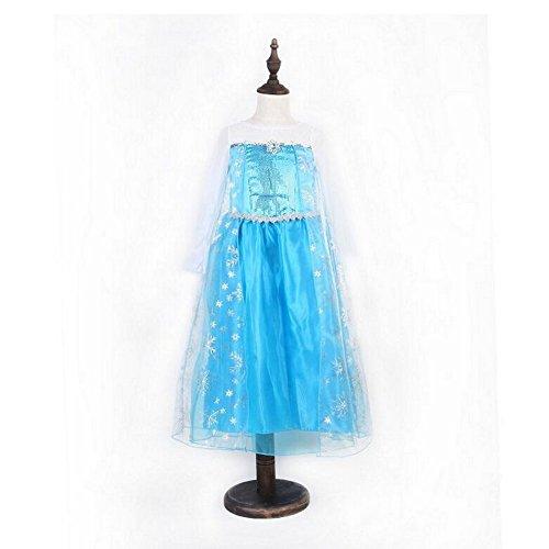 (Fairy Die Eiskönigin - Völlig unverfroren Elsa-Kleid für Mädchen-Prinzessinnenkostüm für Kinder)