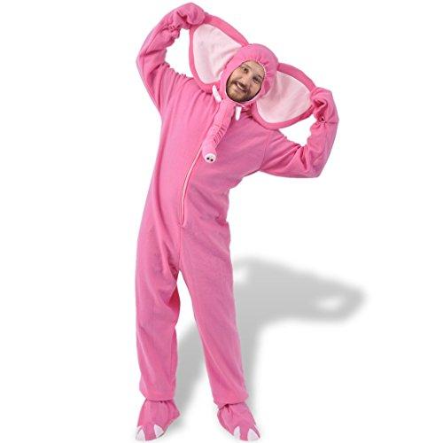 üm Tierkostüme Karneval Fasching Verkleidung Rosa Gr. XL-XXL (Rosa Elefant Kostüm)