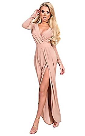 Image Unavailable. Image not available for. Colour  Ikrush Womens Mitra  Bodycon Maxi Dress Rose a40b40ac6