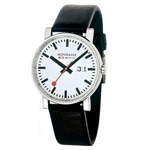 Mondaine - A132.30303.11SBB - Montre Homme - Automatique - Analogique - Bracelet Cuir Noir