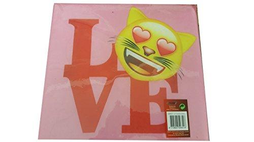 Emoji LOVE Hocker Aufbewahrungshocker Kinder 30x30x30 cm rosa/pink