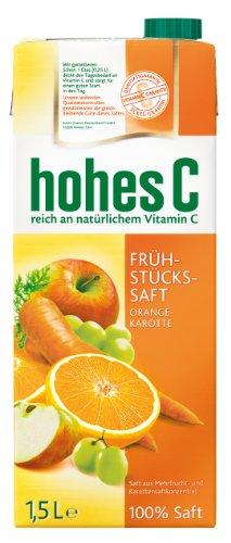 Hohes C Frühstücks- Saft, 8er Pack (8 x 1,5 l Packung)