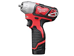 "Milwaukee M12BIW14-202C M12 Sub Compact Impact Wrench 1/4"" Reception (2 x 2.0ah Li-ion batteries, charger, BMC)"