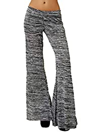 fuxinhe Mujer Pantalones Acampanados - Slim Fit Pantalones De Jogging  Secado Rapido Pantalones Deportivos Ocio Pantalones 39626f1654f9b