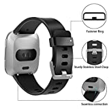 HUMENN Compatible for Fitbit Versa Strap, Classic Adjustable Replacement Sport Wristband for Fitbit Versa/Fitbit Versa Lite Edition, Small Black