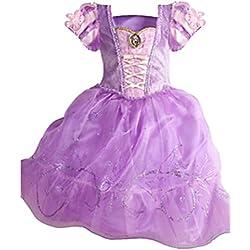 Ninimour Vestido de princesa Grimm's Fairy Tales Disfraces para Halloween Cosplay Costume para Niñas (150, Cinderella#4)