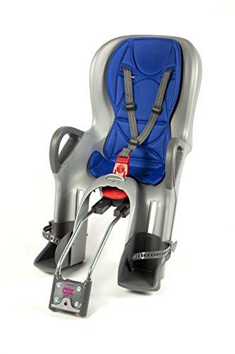 OK Baby Kinder 10+ Hinterrad-fahrradsitz, Silber-Blau, 22kg