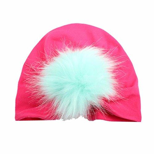 Baby Hut Transer® Unisex Mädchen/Jungen Kleinkind Säugling Cap Hat Baumwolle Einfach Wärmer Mützen mit Flauschigen Ball (Für Australian Jungen Kostüme)