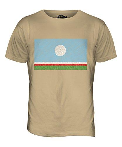 CandyMix Sacha Kritzelte Flagge Herren T Shirt Sand