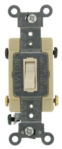 Leviton 4-way Toggle (Leviton 54504-2T 15-Amp, 120/277-Volt, Toggle Framed 4-Way AC Quiet Switch, Commercial Grade, Grounding, Light Almond by Leviton)