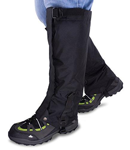 Qshare Bein Gamaschen für Stiefel - Wasserdichte Wandern Klettern Jagd Schnee High Leg Gamaschen (Männer und Frauen)