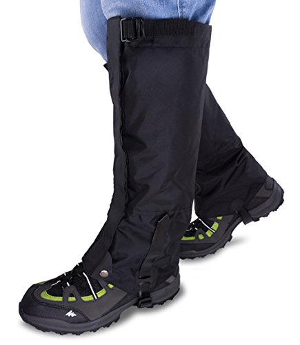 gamaschen schnee Qshare Bein Gamaschen für Stiefel - Wasserdichte Wandern Klettern Jagd Schnee High Leg Gamaschen (Männer und Frauen)