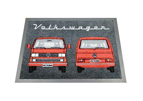 BRISA VW Collection Fußmatte VW T3 Bus Design Front & Heck (Rot)