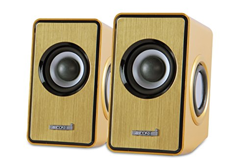 5 core USB Powered Multimedia 2 W X 2 RMS Speaker with 3.5mm Jack for Computers, Phones and Laptops