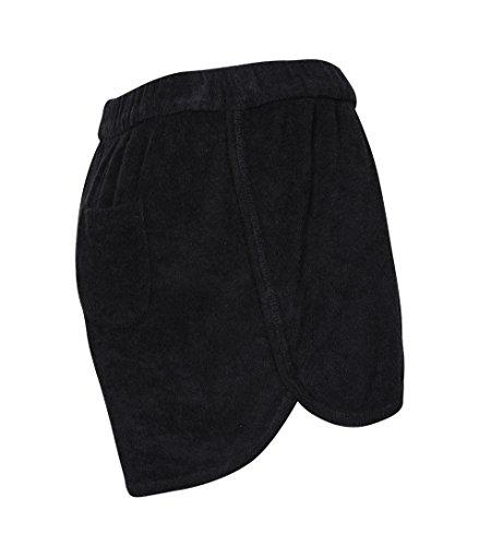 MAJESTIC Damen Shorts aus Frottee in Schwarz 002 noir