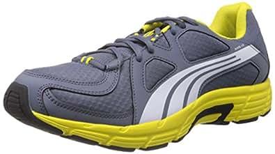 Puma Men's Grey and Yellow Mesh Running Shoes (18672705) - 6UK/India (39EU)