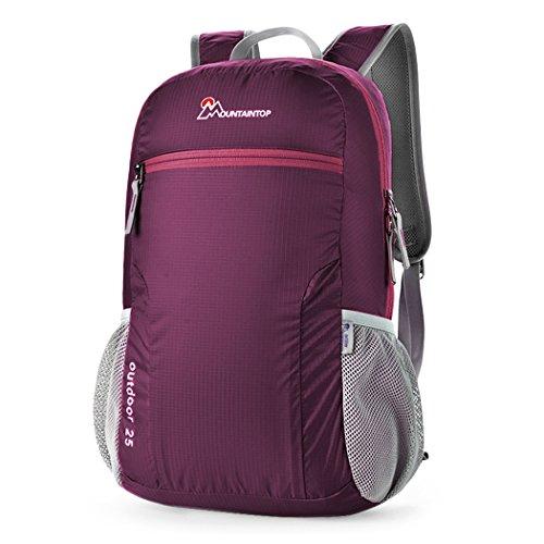 Mountaintop 25L Zaino Pieghevole leggero Packable per i viaggio, il Campeggio, Trekking, Scuola, Sport, Ultraleggero e Pratico