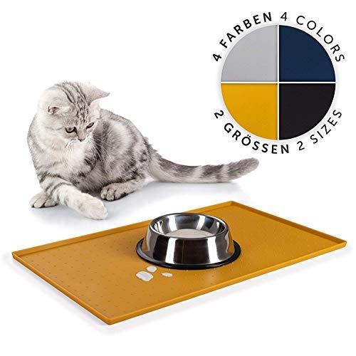 EVERANIMALS rutschfeste Napfunterlage Hund Katzen - Silikonmatte Fressnapf-Unterlage, 50x30cm -