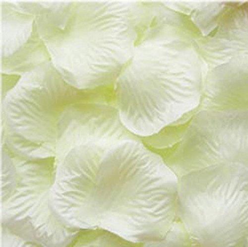 Ouken 1000pcs avorio di seta petali di rosa bouquet fiore di nozze artificiali partito corridoio decor in particolare