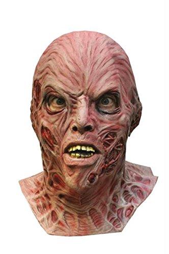 (Freddy Krueger Dlx Erwachsene Maske Halloween Kostueme Maske Gesicht Maske Over-the-Head-Maske Kostuem Stuetze Scary Creepy Schreckliche Maske Latex Maske fuer Maskerade Make-up Party)