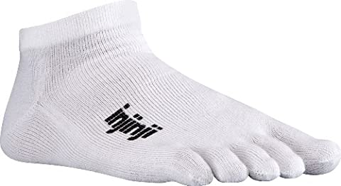 Injinji 2.0 Men's Sport Micro Toesocks, White, Medium