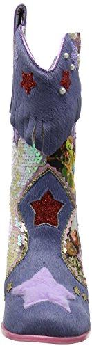 Choix Irrégulier Hip Hes Hop, Stivali Western Donna Multicolore (bleu Multi)