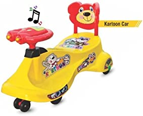 Goyal's Kartoon Magic Car, Ride-on Toy, Assorted Color - Yellow
