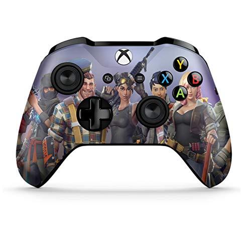 Xbox One S Wireless Controller Pro Konsole - Neueste Xbox Controller Blue-Tooth mit weichem Griff und exklusiver individueller Version Skin Mehrfarbig violett (Bluetooth-xbox-controller)