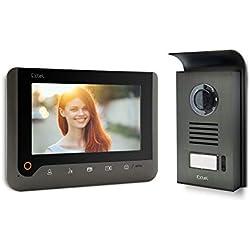 Extel - Visiophone filaire Nova Noir - interphone évolutif avec écran et caméra addionnels